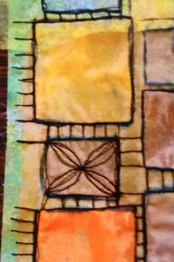 Stap 4 van de transparante quilt
